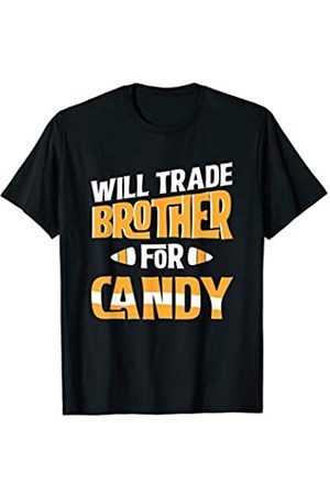 Halloween Costume Apparel by BUBL TEES Will Trade Brother For Candy Funny Halloween T-Shirt