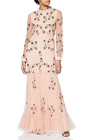 Frock and Frill Women's Ivy Embellished Lace High Neck Maxi Dress Party
