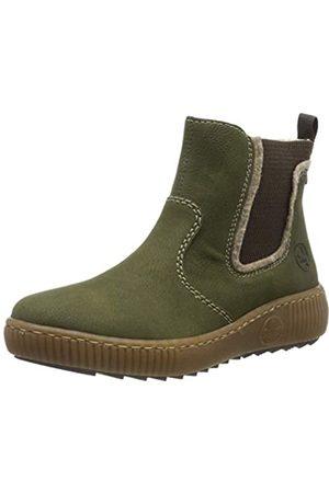 Rieker Women's Herbst/Winter Chelsea Boots, (Tanne/Wood/ 54)