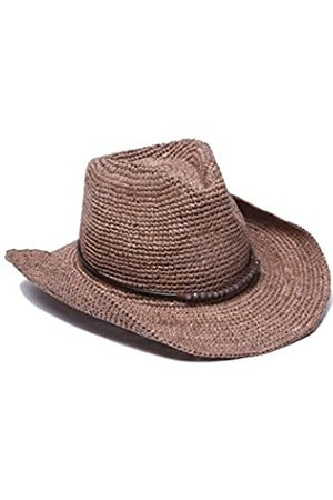 Ale by Alessandra Womens Cassidy Raffia Cowboy Hat with Beaded Trim and Memory Wire Brim Cowboy Hat