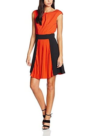 Wolf & Whistle Wolf and Whistle Women's and Black Colour Block Pleat Dress