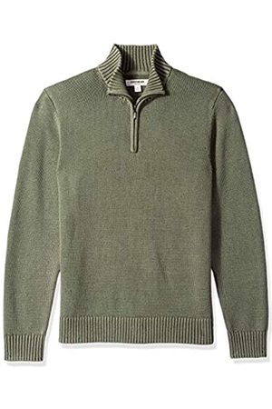 Goodthreads Soft Cotton Quarter Zip Sweater - Vert (washed olive Wol) - Medium