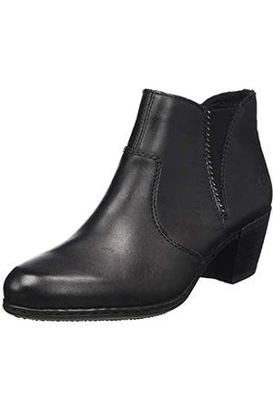 Rieker Women's Herbst/Winter Ankle Boots, (Schwarz/Schwarz 01)