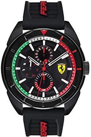 Scuderia Ferrari Mens Multi dial Quartz Watch with Silicone Strap 0830577
