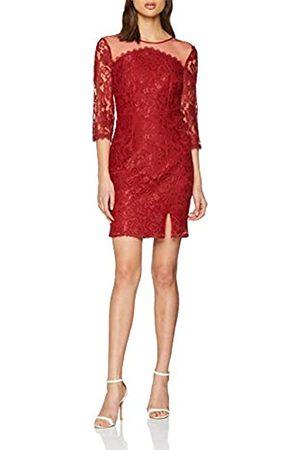 Little Mistress Women's Lace Dress Party, (Crimson)
