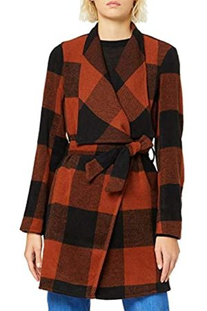 ONLY Women's Onlfreya Drapy Check Wool Coat OTW