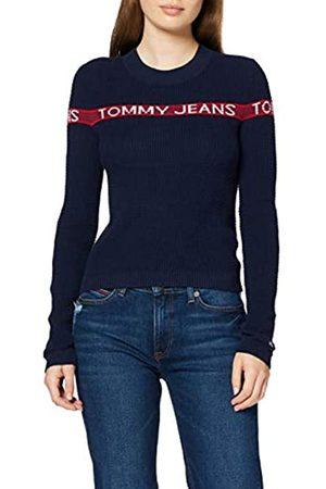 Tommy Jeans Women's Tjw Tommy Logo Stripe Sweater Sweatshirt