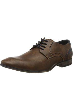 TOM TAILOR Men's 8080103 Oxfords, (Cognac 00205)