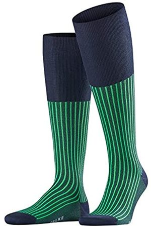 FALKE Men Oxford Stripe Knee-Highs - Cotton Blend, UK 8.5-9.5 (Manufacturer size: 43-44)
