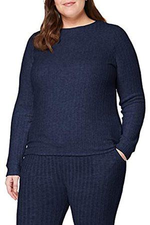 Dorothy Perkins Women's NVY Ribbed Pj Top Pyjama
