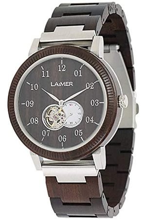 Laimer Mens Analogue Automatic Watch with Wood Strap 120