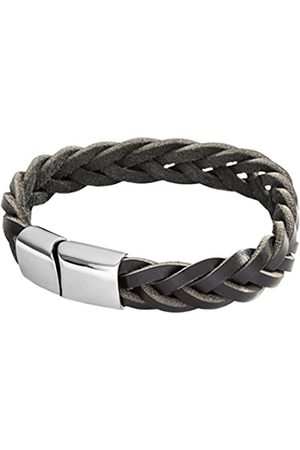 Lower East Leather Bracelet Braided with Magnetic Fastener