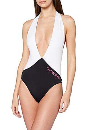 Calvin Klein Women's Plunge Front ONE Piece Bikini Top