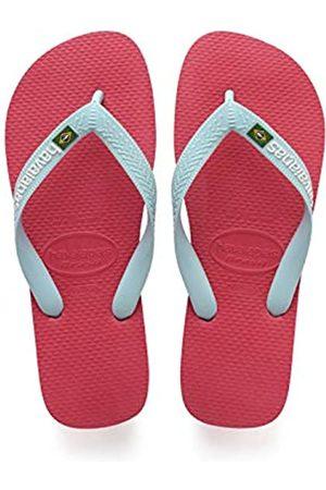 Havaianas Kid's Brazilianasil Logo Flip Flops, (Flamingo),7 UK