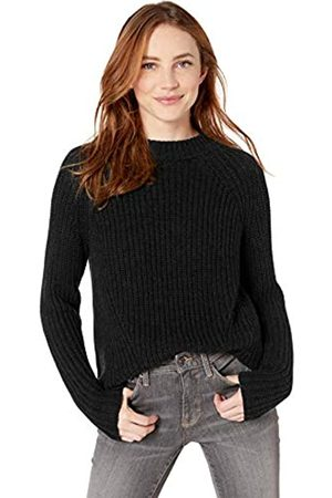 Goodthreads Cotton Half-Cardigan Stitch Mock Neck Sweater Pullover