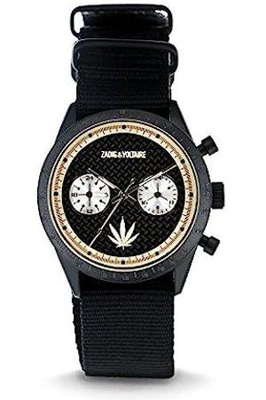 Zadig & Voltaire Unisex Analogue Classic Quartz Watch with Nylon Strap ZVM125