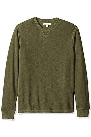 Goodthreads Amazon Brand - Men's Long-sleeve Slub Thermal Crewneck T-Shirt, Beige (olive)