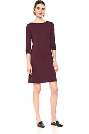 Amazon Essentials Patterned 3/4 Sleeve Boatneck Dress Casual