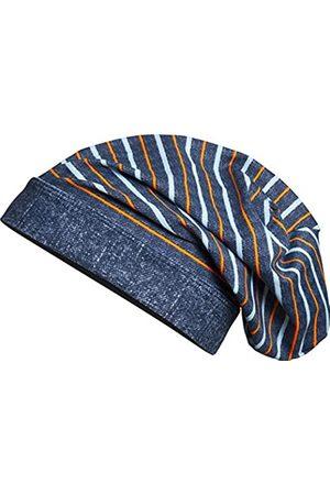 Playshoes Boy's Beanie, Bademütze Ringel mit UV-Schutz Hat, (jeansblau)