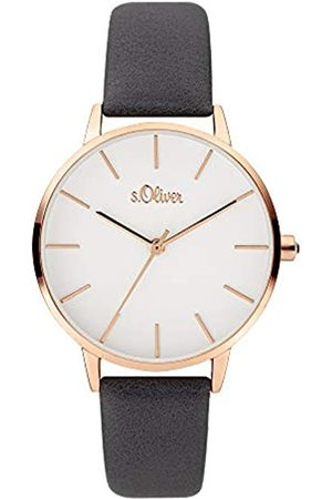 s.Oliver Womens Analogue Quartz Watch with Leather Strap SO-3824-LQ