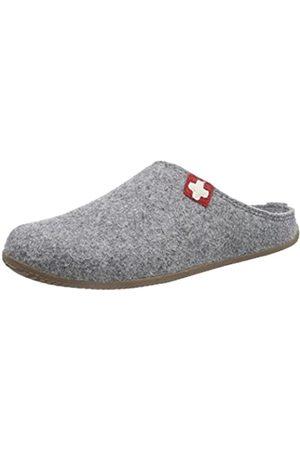 Living Kitzbühel Unisex Adults' Pant. Schweizer Kreuz& Fußbett Open Back Slippers, (Grau 610)