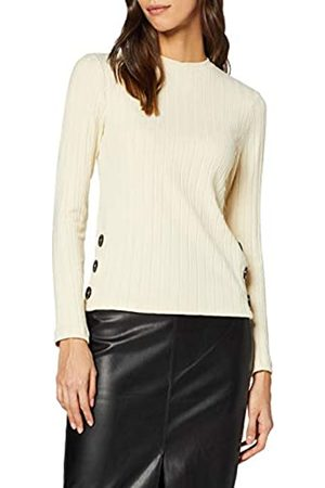 Dorothy Perkins Women's Rib Side Button Long Sleeve Top Blouse