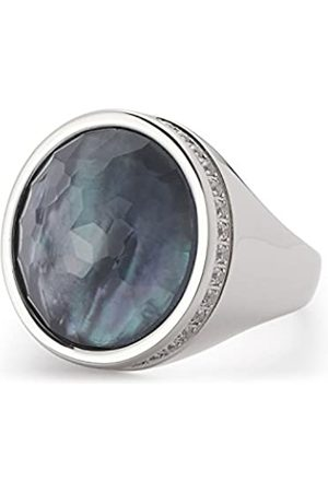 Leonardo JEWELS BY LEONARDO women ring Eleganza stainless steel/silver colored glass imitation pearl grey size 53 (16.9) glitter 016350