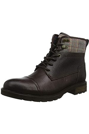 Tommy Hilfiger Men's Winter Leather Textile Mix Boot Classic, (Coffee Bean 212)