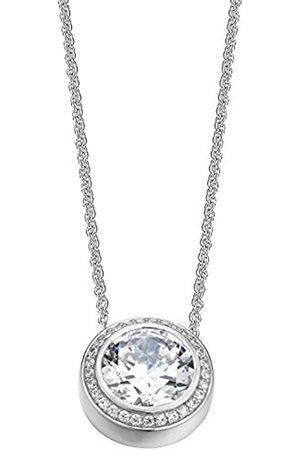 ESPRIT Collection Women's Necklace 925 Sterling Silver Rhodium Plated Glass Zirconia Antigone S.ELNL92330A400 40 cm