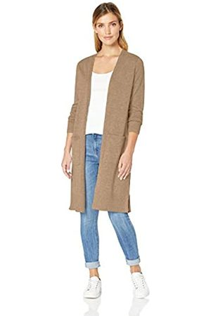 Amazon Essentials Lightweight Longer Length Cardigan Sweater Camel Heather
