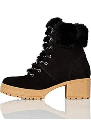 find. Mid Height Faux Fur Lace Up Ankle Boots, )