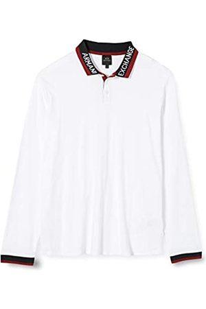 Armani Men's Long Sleeve, Rib Polo Shirt