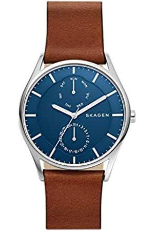 Skagen Men's Multi dial Quartz Watch with Leather Strap SKW6449