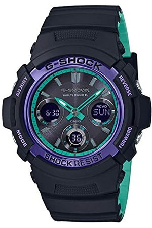 UNKNOWN Casio Watches Unisex_Adult Quartz Watch with Rubber Strap AWG-M100SBL-1AER