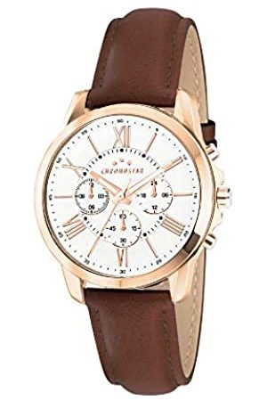 Chronostar Mens Multi dial Quartz Watch with Leather Strap R3751271004
