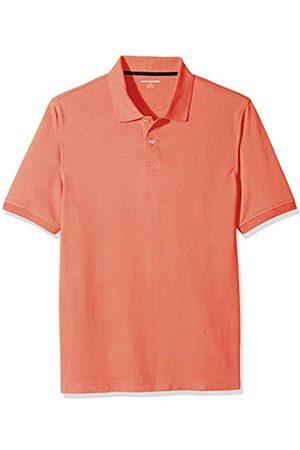Amazon Regular-Fit Cotton Pique Polo Shirt Coral