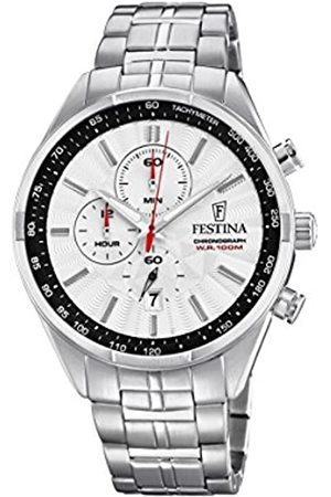 Festina Mens Chronograph Quartz Connected Wrist Watch with Stainless Steel Strap F6863/2