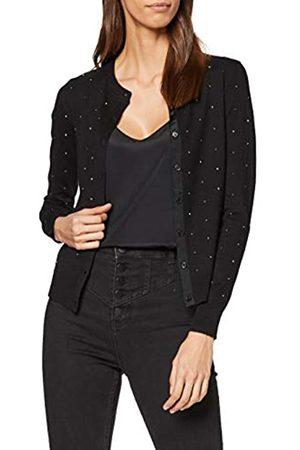 warehouse Women's Diamante Crew Cardigan Pullover Sweater