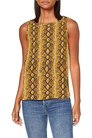 Dorothy Perkins Women's Ochre Snake Built Up Vest Top