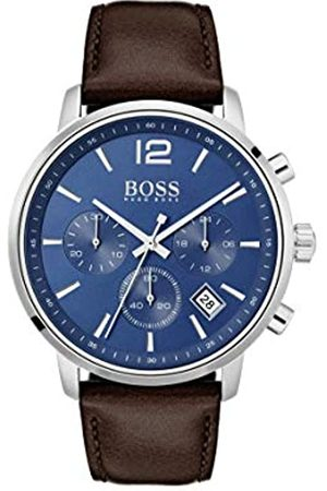 Hugo Boss Mens Chronograph Quartz Watch with Leather Strap 1513606