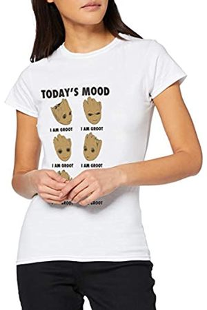 Marvel Women's Guardians of The Galaxy Vol 2 Groot Today's Mood T-Shirt