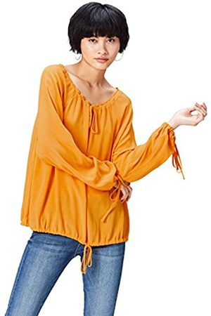 FIND Women's Blouse in Drawstring Peasant Style and Long Sleeve
