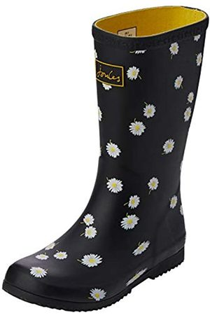 Joules Girl's Roll Up Welly Wellington Boots, ( Daisy)