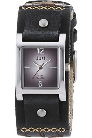 Just Watches Women's Quartz Watch with Dial Analogue Display Quartz Leather ~ 48 S10626 BR BK