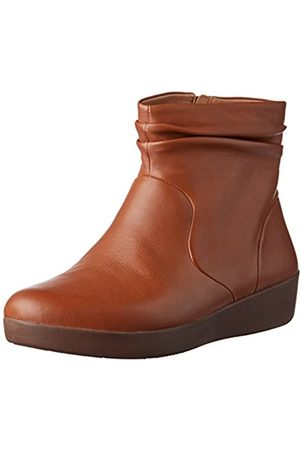 Fitflop Women's SKATEBOOTIE-Leather Ankle Boots, (Caramel 098)