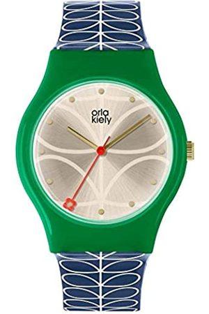 Orla Kiely Unisex Adult Analogue Classic Quartz Watch with Leather Strap OK2224