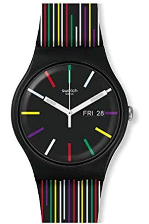 Swatch Unisex Adult Analogue Watch with Silicone Strap SUOB729