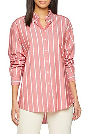 Tommy Jeans Women's Soft Touch Stripe Shirt Short Sleeve Blouse