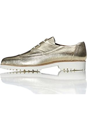 FIND Women's Brogues in Contrast Colour Leather Lace Ups