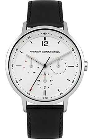 French Connection Men's Quartz Watch with Dial Analogue Display and Leather Strap FC1276B